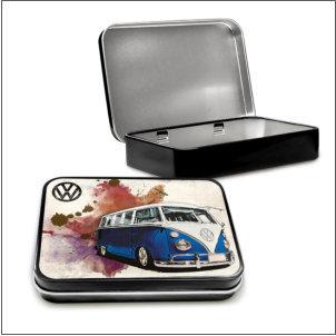 VW Camper Grunge Dark Blue
