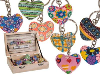 kleurrijke sleutelhanger hartjes