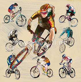 Mountainbike wenskaart