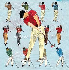 Golf (man) wenskaart