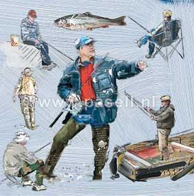 Fishing wenskaart