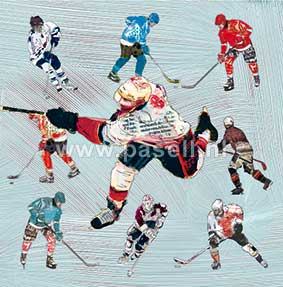 Ice Hockey wenskaart