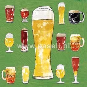 Beer wenskaart