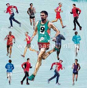 Running (man) wenskaart