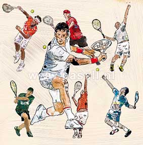 Tennis (Man) wenskaart