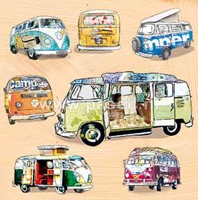 Campervan Bus wenskaart