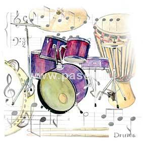 Drums / PLS wenskaart