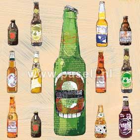 Beer bottle wenskaart