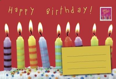 Birthday candles / Post voor jou