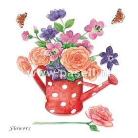 Flowers / PLS wenskaart