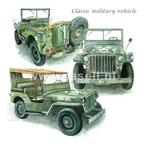 Classic Military / PLS wenskaart