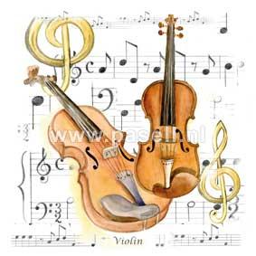 Violin / PLS wenskaart