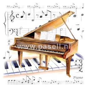 Piano / PLS wenskaart