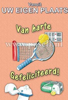 Plaatsnaamkaart Tennis