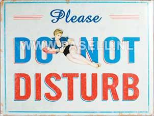 Do not disturb wall sign
