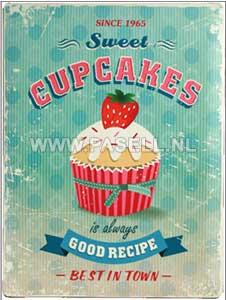 Cupcakes wall sign