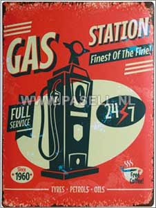 Gas station wall sign