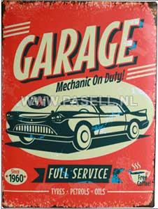 Garage wall sign