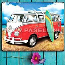 VW Samba Surf wall sign