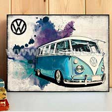 VW Camper Grunge (LB) wall sign