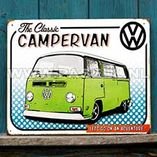 VW campervan comic wall sign