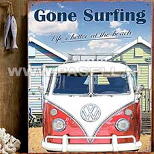 VW Gone surfing wall sign