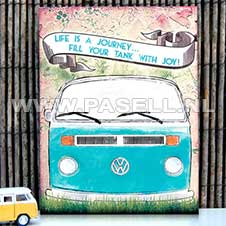 VW Life is a Journey wall sign