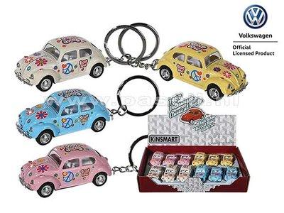 Volkswagen Beetle Love & Peace sleutelhanger