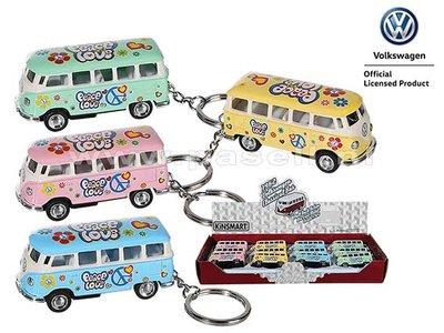 Volkswagen Bus Love & Peace sleutelhanger
