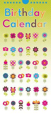 Verjaardagskalender Floral