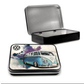 VW Camper Grunge LIght Blue Tin