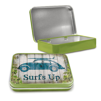 VW Beetle surf up Tin