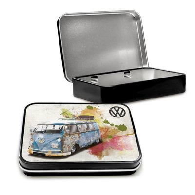VW Camper aged grunge Tin