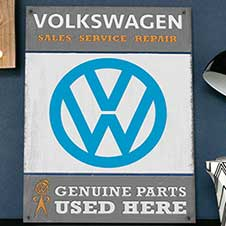 VW Genuine Parts wall sign