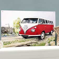 VW Camper Country Lane wall sign