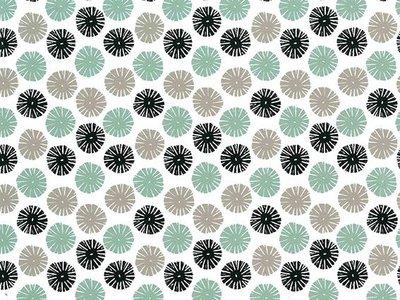 Toonbankrol Snowflake Black/Taupe/Mintgreen