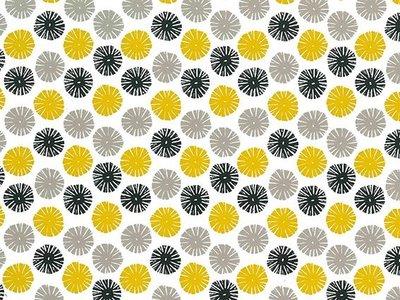 Toonbankrol Snowflake Black/Taupe/Warm Yellow