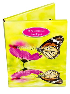 Flowers & Butterflies Notecards