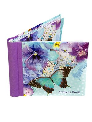 Address book Polka Dot Viola